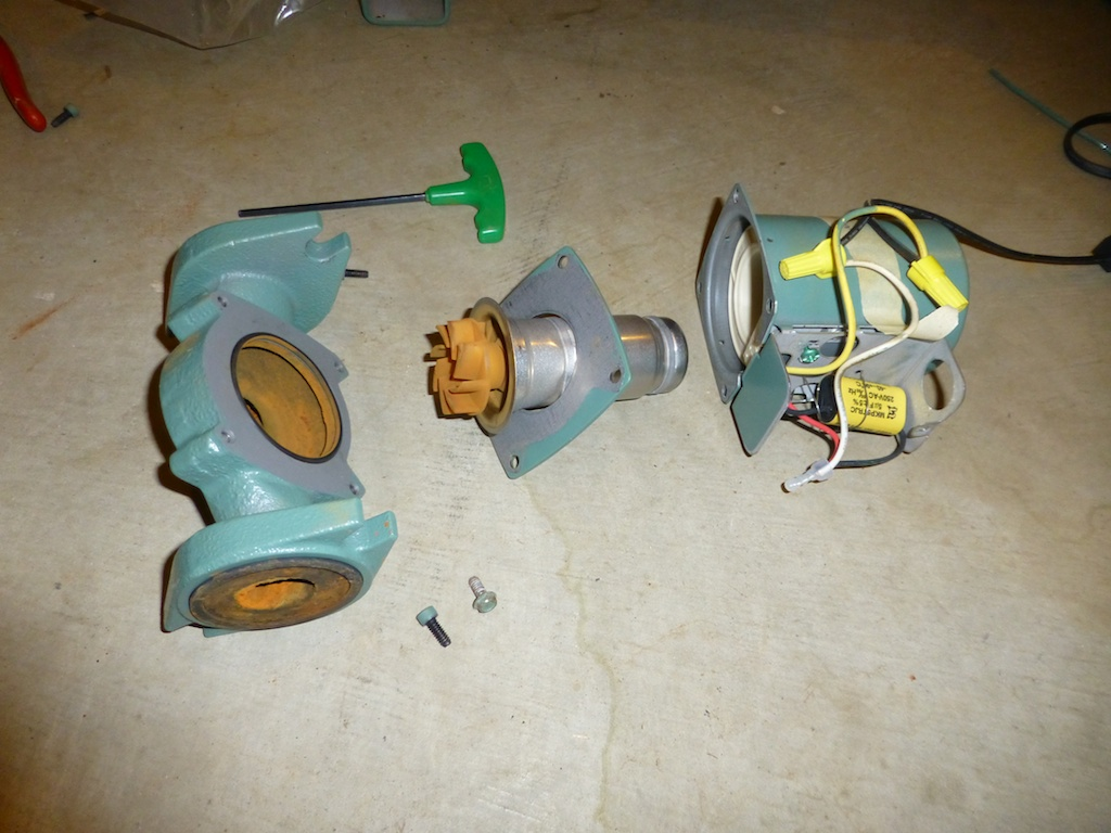 Disassembled pump